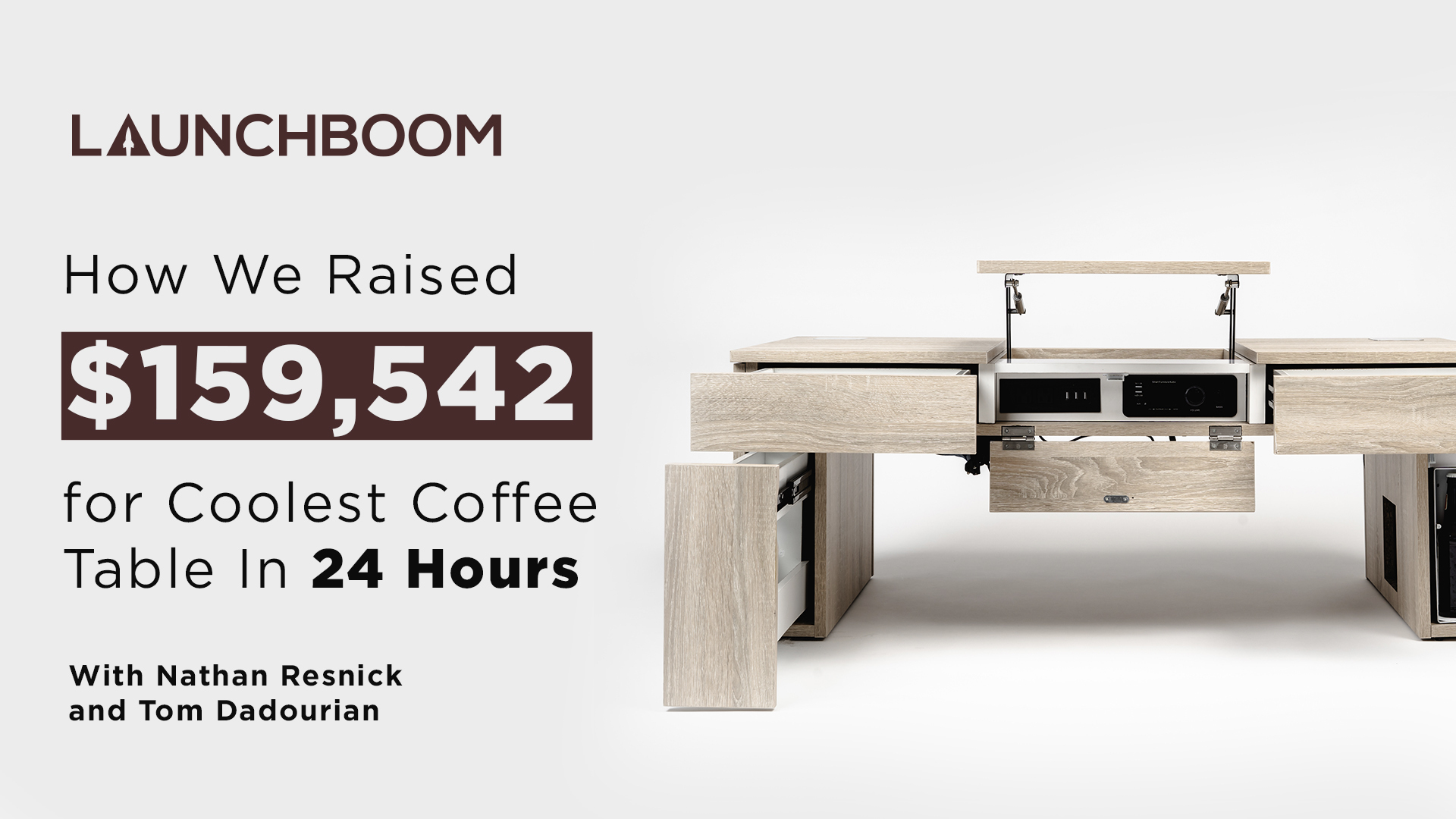 How We Raised $159,542 for Coolest Coffee Table In 24 Hours
